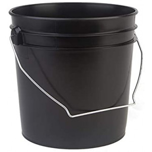 1 Gallon Black HDPE Pail (100 per case)