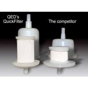 Disposable in-line field filter, standard capacity, (30 cm2), 1.0 micron pore size (Each)