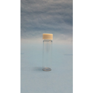 16mL Clear Boroscilicate Sample Vial , 18-400 screw thread w/ PTFE lined closure attached (144/pk)