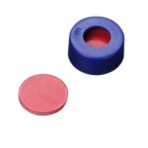 9-425 Blue Assembled  Cap, PTFE/Silicone/PTFE Septa (100pk)