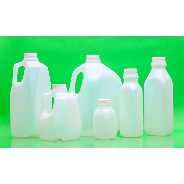 16oz Natural HDPE Juice Style Bottle Assembled w/38-400 F-217 Lined Cap (400/cs)